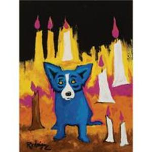 George_rodrigue_blue_dog_with_candl